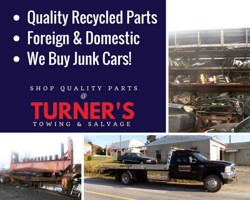 Find Quality Used Auto Parts Here | Turner\'s Towing & Salvage